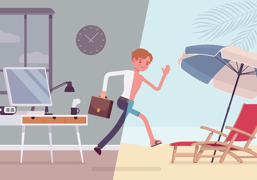 faire avant de quitter son bureau pour des vacances r ussies. Black Bedroom Furniture Sets. Home Design Ideas